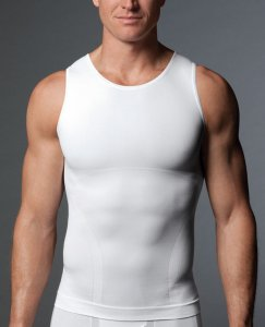 SPANX For Men Zoned Performance Tank Top T Shirt White 602