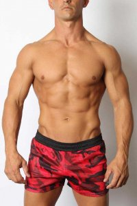 CellBlock 13 Foxhole Mesh Shorts Red CBS179
