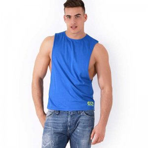 Roberto Lucca CC7 Large Armhole Muscle Top T Shirt Blue 7024...