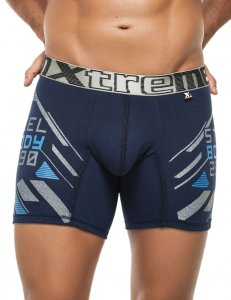 Xtremen Steel Body Boxer Brief Underwear Dark Blue 51390