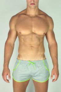 2EROS Icon Shorts Swimwear Grey/Lime S01-01