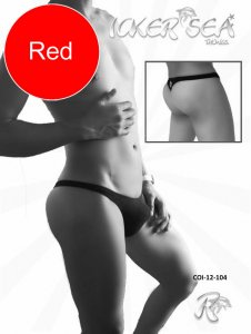 Icker Sea Solid Mini Thong Underwear Red COI-12-104