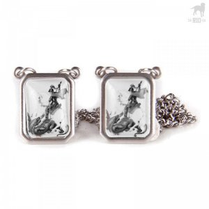 CA-RIO-CA Sao Jorge Scapular Necklace Jewelry Black/White CR...
