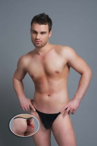 Andalea Bird G String Underwear Black MC-9035