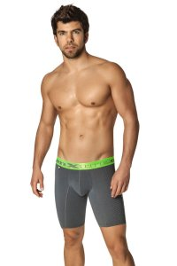 Xtremen Printed Sport Boxer Brief Underwear Dark Grey 51324