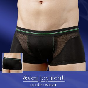 Svenjoyment Net Insert Boxer Brief Underwear Black 2131366