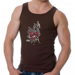Good Boy Gone Bad Sex Love Hate Tank Top T Shirt Brown
