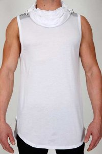 Pistol Pete Elite Hoody Sleeveless Sweater White/Grey MT259-917