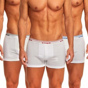 Papi [3 Pack] Premium Cotton Buttonfly Boxer Brief Underwear White 705602