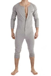 L'Homme Invisible Onesie Lounge Bodysuit Grey HW138-LOU-GC1