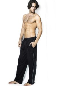 L'Homme Invisible Jersey Lounge Pants Black HW121-ERI-001