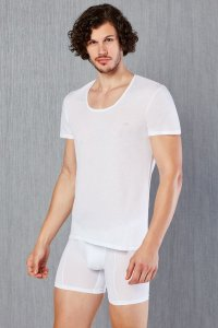Doreanse Solid Short Sleeved T Shirt White 2525