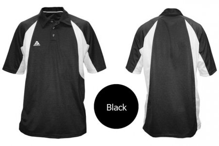 Akadema Sport Polo Short Sleeved Shirt Black SPOLO