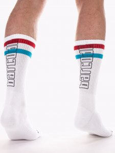 Barcode Berlin Fashion 70S Socks White/Red/Turquoise 91620-2...