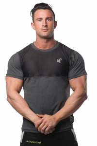 Jed North Apex Mesh Performance Short Sleeved T Shirt Black