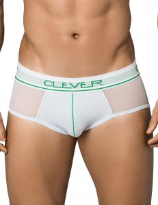 Clever Radical Piping Brief Underwear White 5353