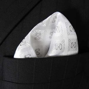 Distino Of Melbourne Check Pocket Square Handkerchief White ...