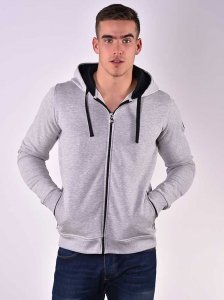 Roberto Lucca Hoodie Long Sleeved Sweater Grey Melange 80259...