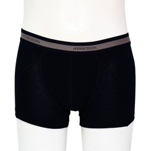 Minerva Micro Cotton Boxer Brief Underwear Black 21010