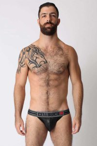 CellBlock 13 Liquid Skin Jock Strap Underwear Black CBU059