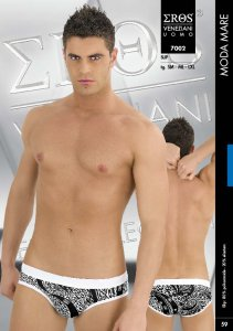 Eros Veneziani White Leopard Brief Underwear 7002