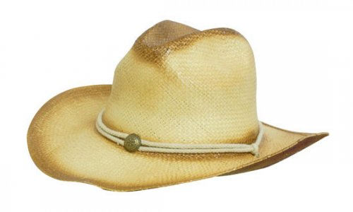 Headwear Professional Sprayed Cowboy Straw Hat String Band S4281