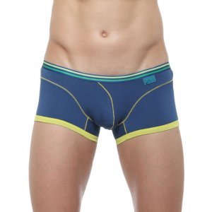 Private Structure Qi Trunk Boxer Brief Underwear Blue 99-MU-...
