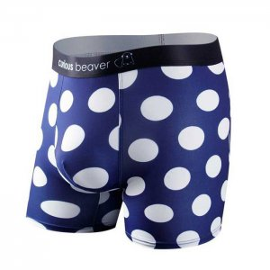 Curious Beaver Pokes My Dots Boxer Brief Underwear Polkadots
