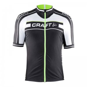 Craft Grand Tour Jersey Short Sleeved T Shirt Black/Gecko 1902615