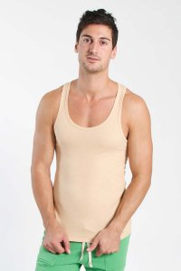 4-rth Edge Sustain Tank Top T Shirt Sand Beige