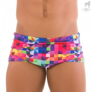 CA-RIO-CA Geo Traditional Square Cut Trunk Swimwear CRC-S119000