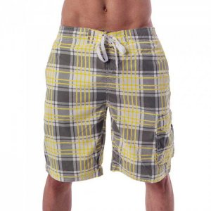 Lord Plaid Boardshorts Beachwear Grey MA013