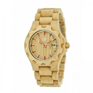 Earth Wood Gila Bracelet Watch w/Magnified Date - Khaki/Tan ETHEW3301