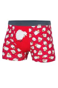 Cornette Christmas Lambs 047/39 Boxer Brief Underwear Red
