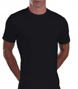 Lord Plain Cotton Short Sleeved T Shirt Black 500