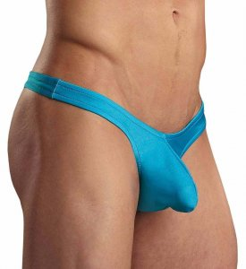 Male Power Ultra Low Rise Thong Underwear Turquoise PAK872
