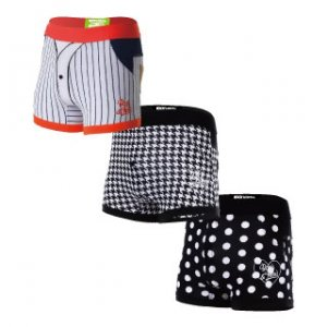Rock N Fresh [3 Pack] Mikey Package C Boxer Brief Underwear