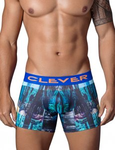 Clever Cosmopolitan Boxer Brief Underwear Black 2329