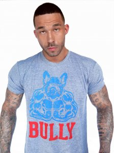 Bullywear Big Bully Short Sleeved T Shirt Grey SST10CREW