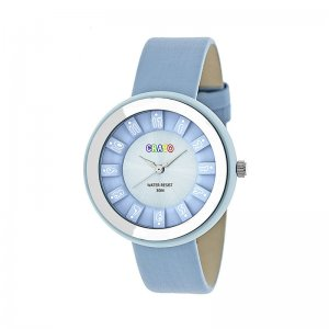 Crayo Celebration Leather-Band Watch - Powder Blue CRACR3405