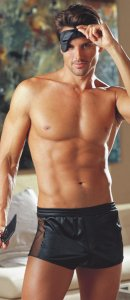 Dreamguy Black Men's Boxer with Fishnet Sides 4875