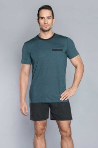 Italian Fashion Pocket Pyjama Short Sleeved T Shirt & Shorts...