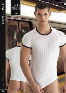 Eros Veneziani Stripe Short Sleeved T Shirt 7104