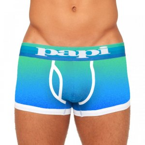 Papi Dusk to Dawn Brazilian Trunk Boxer Brief Underwear Blue 980593
