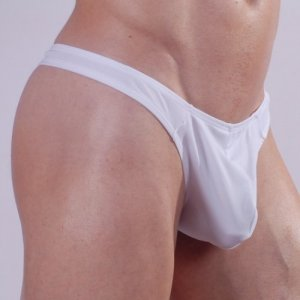 Don Moris Plain Thong Underwear White DM140537