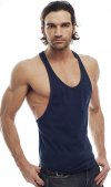 Go Softwear Muscle Tank Top T Shirt Navy 4645A