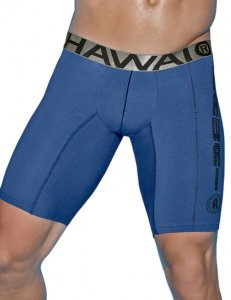 Hawai Logo Long Boxer Brief Underwear Blue 497