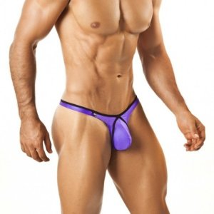 Joe Snyder Pride Frame Thong 03 Shins Purple Underwear & Swimwear