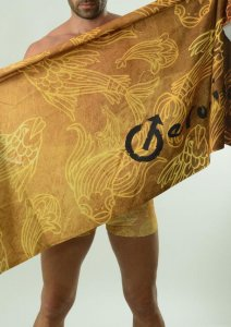 Geronimo Towel Gold/Black 1609X1-3