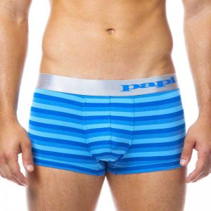 Papi Platinum Striped Brazilian Trunk Underwear Blue 626506-400